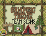 Camping Theme Team Signs EDITABLE