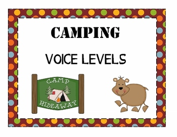 Camping Theme Voice Level Posters