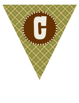 "Camping Theme ""WELCOME!"" Pennant Banner"