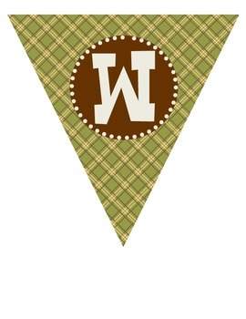 """Camping Theme """"WELCOME!"""" Pennant Banner"""