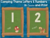 Camping Theme Wall Letters and Numbers