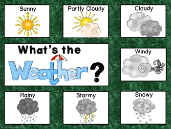 Camping Theme Weather Chart