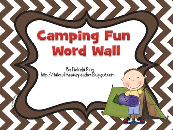 Camping Theme Word Wall