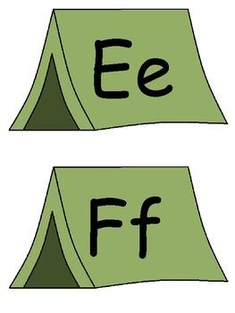 Camping Theme Word Wall