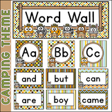 Camping Theme Word Wall - Forest Animals Classroom Decor