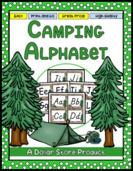 Camping Theme Word Wall Alphabet