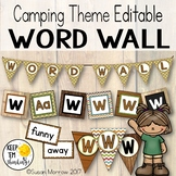 Camping Theme Word Wall, Camping Theme Classroom Decor, Wo