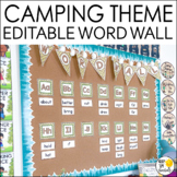 Camping Theme Word Wall, Camping Theme Classroom Decor, Wo