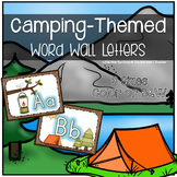 Camping Theme: Word Wall Letters or Alphabet Mini-Posters