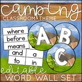 Camping Theme Word Wall Letters and Words