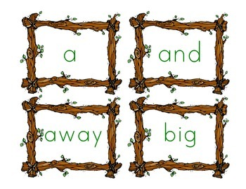 Camping Theme Word Wall Words {220 words}