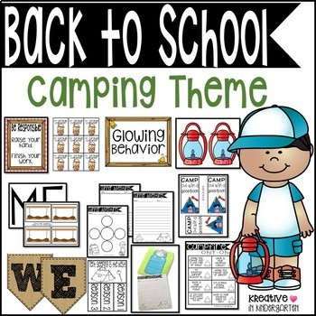 Camping Theme for Beginning of the Year- Growing Bundle!
