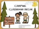 Camping Theme with Campers, Animals & Teacher Planner, many pages editable