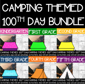 Camping Themed 100th Day Whole-School License Bundle
