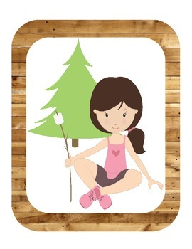Camping Themed ABC Printables (w/ real pictures)