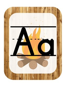 Camping Themed ABC printables