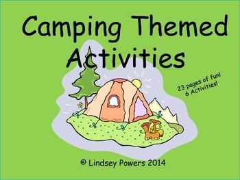 Camping Themed Activities for Kindergarten
