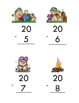 Camping Themed Addition and Subtraction Game