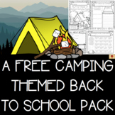 Camping Themed All About Me Back to School Activities