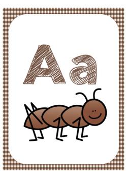 Camping Themed Alphabet