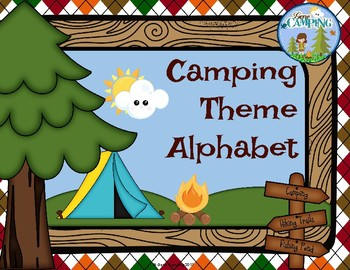 Camping Themed Alphabet
