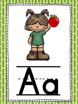 Camping Themed Alphabet Cards