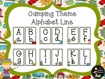 Camping Themed Alphabet Line