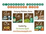 Camping Themed Alphabet Line {D'nealian Cursive}