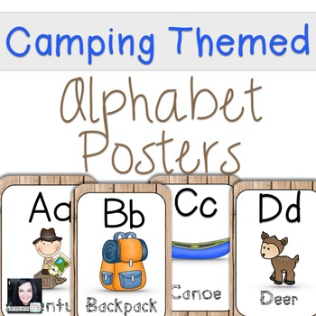 Camping Themed Alphabet Posters