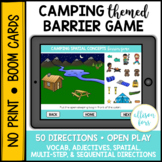 Camping Themed Barrier Game BOOM Cards™️ Speech Therapy Di