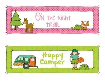 Camping Themed Behavior BUNDLE