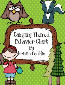 Camping Themed Behavior Chart