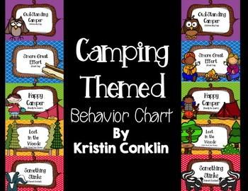 Camping Themed Behavior Chart