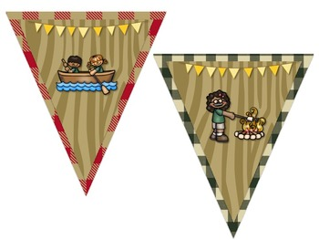 Camping Themed Behavior Chart *Mini Pennant Banner Chart Header* and Forms