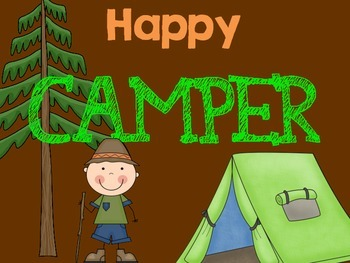 Camping Themed Behavior Chart and Power Rules
