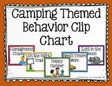 Camping Themed Behavior Clip Chart