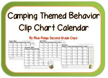 Camping Themed Behavior Clip Chart Calendar