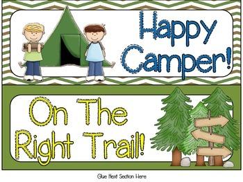 Camping Themed Behavior Clip Chart - JS Version