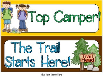Camping Themed Behavior Clip Chart - JS Version