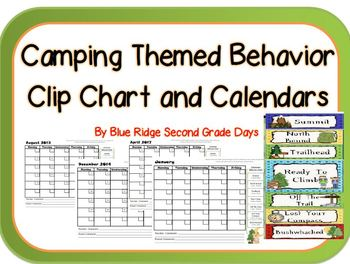 Camping Themed Behavior Clip Chart and Clip Chart Behavior