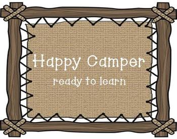Camping Themed Behavior Clip Chart and Voice Level Chart