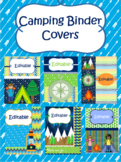 Camping Themed Binder Covers