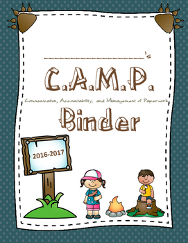 Camping Themed Binder and Folder Covers