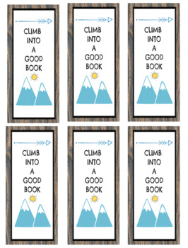 Camping Theme Bookmarks FREEBIE!