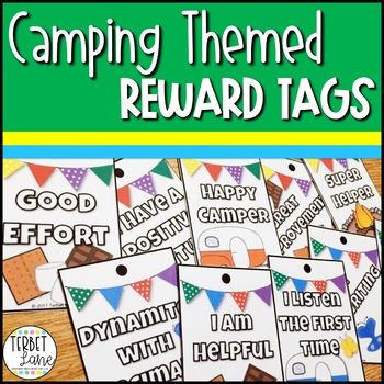 Camping Themed Brag Tags
