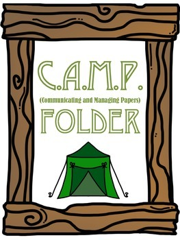 Camping Themed CAMP Folder and Reading Log