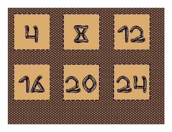 Camping Themed Calendar Numbers