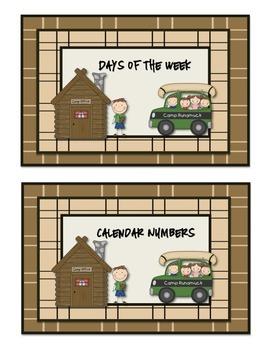 Camping Calendar Set