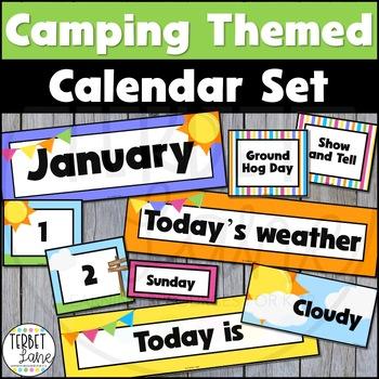 Camping Themed Calendar Set
