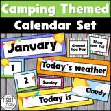 Camping Themed Classroom Calendar Set